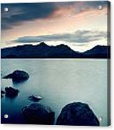 Derwent Water With Catbells At Sunset Acrylic Print