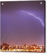 Desert Lightning Acrylic Print by Jennifer Nixon