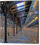 Deserted Railroad Platforms Acrylic Print