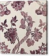 Design For A Silk Damask Acrylic Print