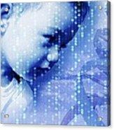 Designer Baby, Conceptual Artwork Acrylic Print