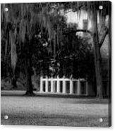 Destrehan Plantation In Black And White Acrylic Print