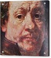 Detail From Portrait Of The Artist Rembrandt Canady Portfolio 9 Acrylic Print