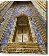 Detail Of Window And Columns Of Wat Acrylic Print