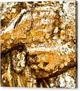 Details Of Golden Buddha Statue Acrylic Print