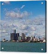 Detroit Michigan Skyline Acrylic Print by Twenty Two North Photography