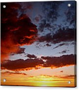 Developing Storm At Sunset Acrylic Print