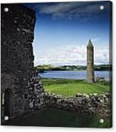 Devenish Monastic Site, Lough Erne, Co Acrylic Print