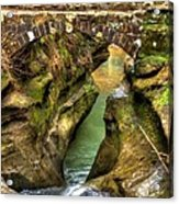 Devil's Bathtub Acrylic Print by Shirley Tinkham