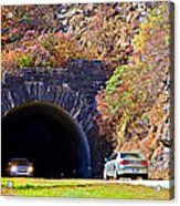 Devil's Courthouse Tunnel Acrylic Print