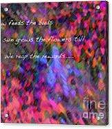Dew Haiku Acrylic Print by ME Kozdron
