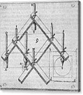 Diagram Of A Pantograph Acrylic Print