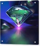 Diamond On Purple Acrylic Print