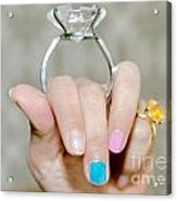Diamond Ring Acrylic Print