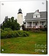 Dice Head Lighthouse Acrylic Print