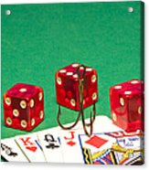 Dice Red Cards Hook 1 B Acrylic Print