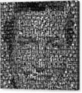 Dick Van Dyke Mosaic Acrylic Print