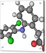 Diclofenac Drug Molecule Acrylic Print