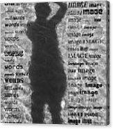 Diction Acrylic Print by Betsy Knapp