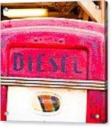 Diesel Pump Acrylic Print by Tom Gowanlock
