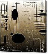 Digital Dimensions In Brown Series Image 2 Acrylic Print