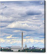 Digital Liquid - Clouds Over Washington Dc Acrylic Print by Metro DC Photography