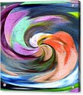 Digital Swirl Of Color 2001 Acrylic Print