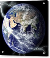 Digitally Enhanced Image Of The Full Acrylic Print