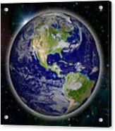 Digitally Generated Image Of Planet Earth Acrylic Print