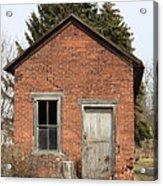 Dilapidated Old Brick Building Acrylic Print by John Stephens