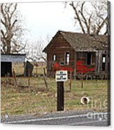 Dilapidated Old Farm House . No Trespassing . No Hunting . 7d10335 Acrylic Print by Wingsdomain Art and Photography