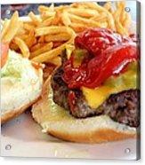 Diner Burger Acrylic Print