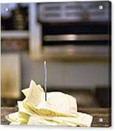Diner Reciepts Acrylic Print by Andersen Ross