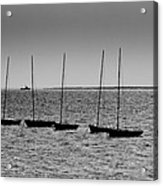 Dinghies Moored Off Of Leigh On Sea Essex Acrylic Print