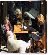Dining Out With The Family Acrylic Print