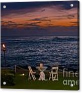 Dinner Setting In Paradise Acrylic Print