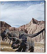 Dino's In The Badlands Acrylic Print