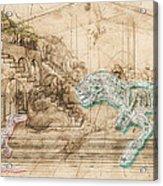 Dinosaur Battle Acrylic Print