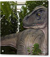Dinosaur Inside The Conservatory Acrylic Print