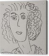 Direct Woman Acrylic Print