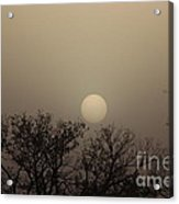 Dirt Storm Sunset Natural Color Of It Acrylic Print