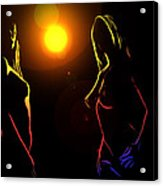 Disco Girls Acrylic Print
