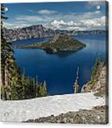 Discovery Point And Wizard Island Acrylic Print
