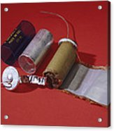 Dismantled Capacitor Acrylic Print by Andrew Lambert Photography