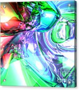 Disorderly Color Abstract Acrylic Print