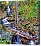 Distant Ozone Falls And Rapids In Autumn Acrylic Print