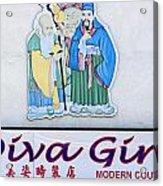 Diva Girl Acrylic Print