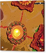 Diwali Colors By Candle Acrylic Print