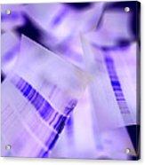 Dna Electrophoresis Gels, Artwork Acrylic Print