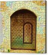 Do-00489 Old Door Within A Door-crackles Acrylic Print